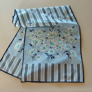 Accessories - Blue & White Floral Scarf